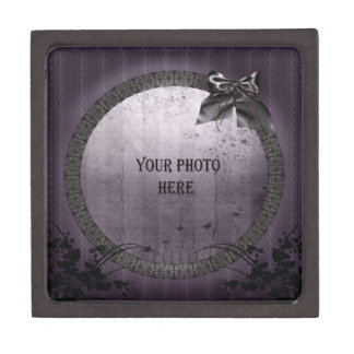 Add your photo ornate Gothic frame Premium Gift Boxes