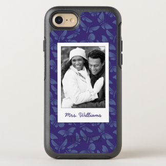 Add Your Photo | Purple Butterflies OtterBox Symmetry iPhone 8/7 Case