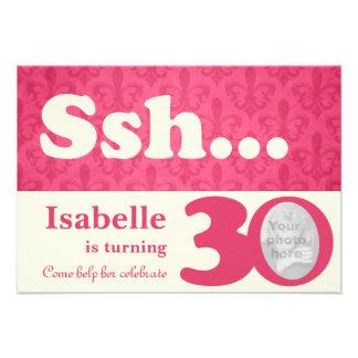 Add your photo ssh surprise 30th birthday invite