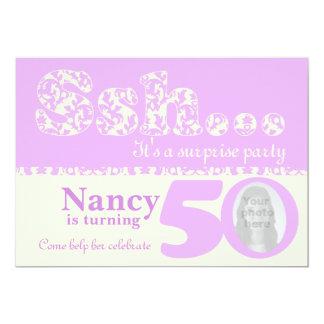 Add your photo ssh surprise 50th birthday invite
