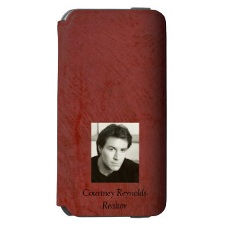 Add Your Photo Tuscan Red Stucco Incipio Watson™ iPhone 6 Wallet Case