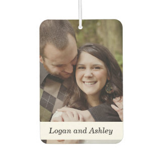 Add Your Photo, Wedding Couple Custom Car Air Freshener