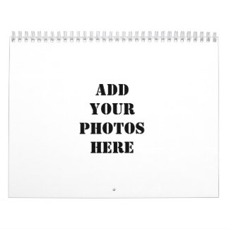 Add your photos here calendars