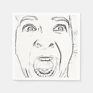 Add Your Scared Screaming Face Hilarious Disposable Napkin