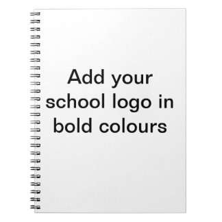Add your school logo notebooks