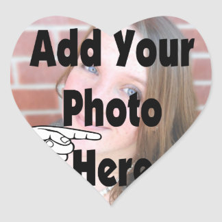 Add your special Photograph Picture Heart Sticker