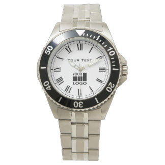 Add Your Text and Logo Antique Roman Numerals Watches