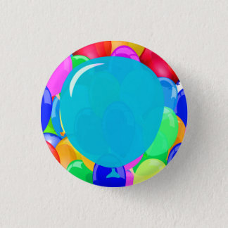 Add Your Text Balloons 3 Cm Round Badge
