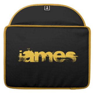 ADD YOUR TEXT! BLACK,YELLOW  MACBOOK SLEEVE MacBook PRO SLEEVE