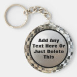 Add Your Text Cool Disco Mirror Ball Keychain