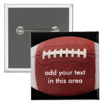 Add your text Football Button Pin