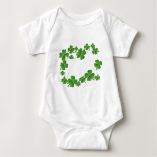 Add your text, shamrock design baby bodysuit