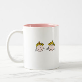 Add Your Text Twincess Two-Tone Coffee Mug