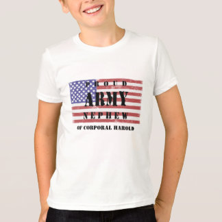 Add Your Uncle/Aunts Name Proud Army Nephew  Shirt