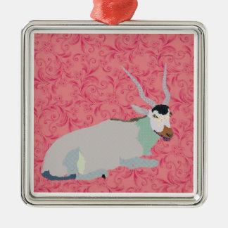 Addax Christmas Ornament Pink