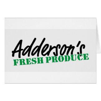 Adderson's Fresh Produce Greeting Card