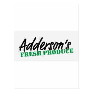 Adderson's Fresh Produce Postcard