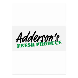 Adderson's Fresh Produce Post Cards