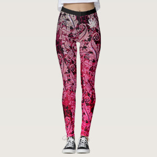 addicted leggings red & pink