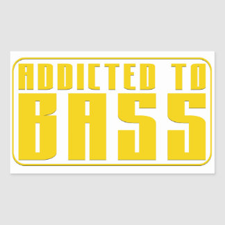 Addicted to Bass Rectangular Sticker