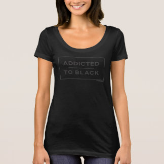 Addicted To Black Square T-Shirt