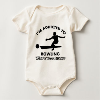 addicted to bowling baby bodysuit