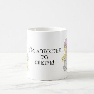 Addicted to cheese coffee mug