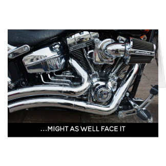 Addicted to Chrome V-twin Motorcycle Birthday Card