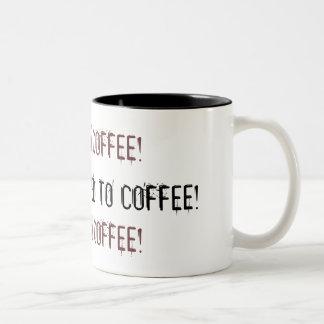 ADDICTED TO COFFEE!, ADDICTED TO COFFEE!, ADDIC... Two-Tone MUG