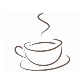 Addicted to Coffee Postcard