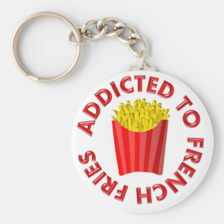 Addicted to French Fries Key Ring