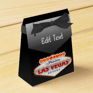 Addicted to Las Vegas, Nevada Funny Sign Favour Box