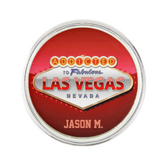 Addicted to Las Vegas, Nevada Funny Sign Lapel Pin
