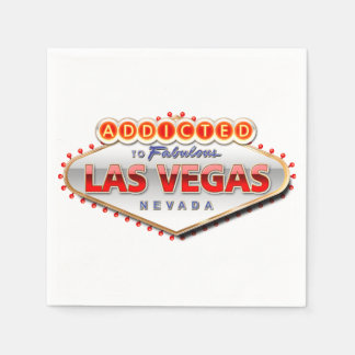 Addicted to Las Vegas, Nevada Funny Sign Paper Serviettes