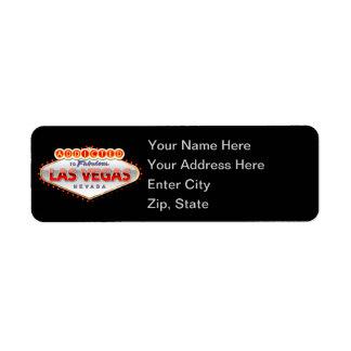 Addicted to Las Vegas, Nevada Funny Sign Return Address Label