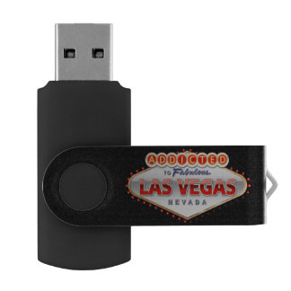 Addicted to Las Vegas, Nevada Funny Sign Swivel USB 3.0 Flash Drive