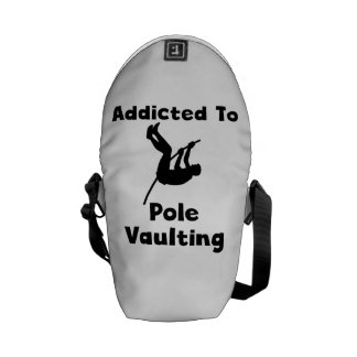 Addicted To Pole Vaulting Courier Bags