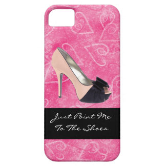 Addicted To Shoes Love Hearts Black Pink High-heel iPhone 5 Cover
