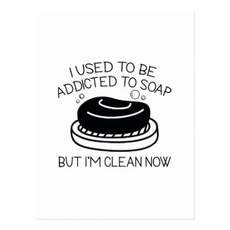 Addicted To Soap Postcard