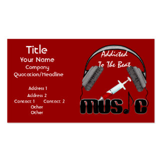 Addicted To The Beat Double-Sided Standard Business Cards (Pack Of 100)