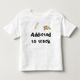 Addicted to track white tee toddler train