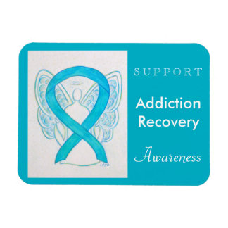 Addiction Recovery Awareness Ribbon Angel Magnet