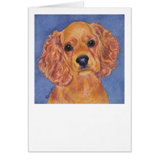 """Addie"" - Cocker Spaniel Card"