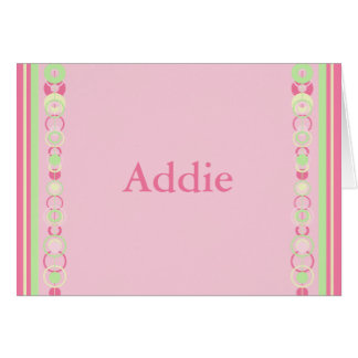 Addie Pink Modern Circles Card