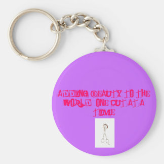 Adding Beauty to the world Basic Round Button Key Ring