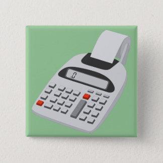 Adding Machine - Vintage Accountant Technology 15 Cm Square Badge