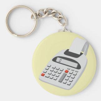 Adding Machine - Vintage Accountant Technology Basic Round Button Key Ring