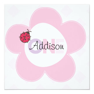 """Addison"" 1st Birthday Invite"