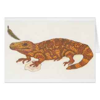 Addison the Lizard Card
