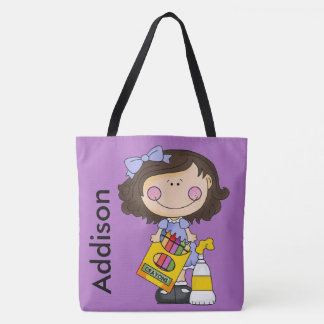 Addison's Crayon Personalized Tote